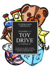 Christmas Toy Drive Flyer Template