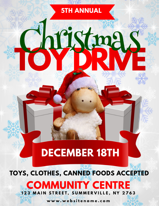 Christmas Toy Drive Flyer Template | PosterMyWall