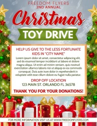 Christmas Toy Drive Video Flyer (US Letter) template