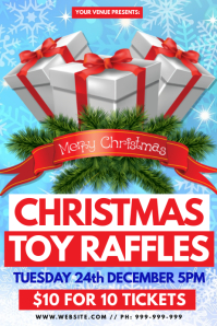 Christmas Toy Raffles Poster template