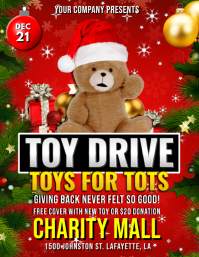 CHRISTMAS TOYS FOR TOTS DRIVE FLYER TEMPLATE