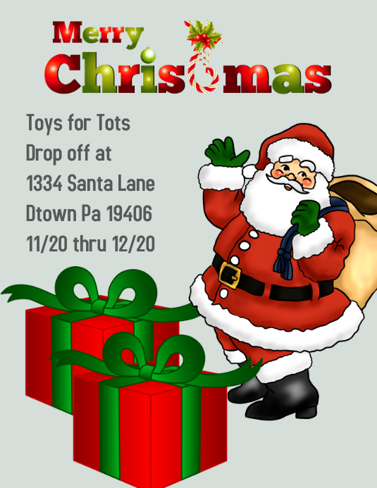 Toys For Tots Flyers Editable : Christmas toys for tots template postermywall