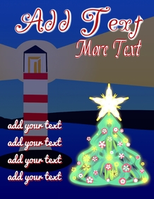 Christmas tree at coast view
