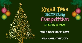 Christmas tree competition Facebook 活动封面 template