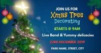 Christmas tree decorating Facebook 活动封面 template