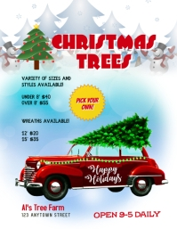Christmas Tree Farm Flyer Ad Template