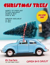 Christmas Tree Farm Flyer Ad Template