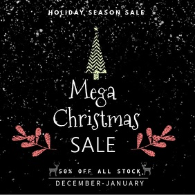 Christmas Tree Holiday Sale Video Template