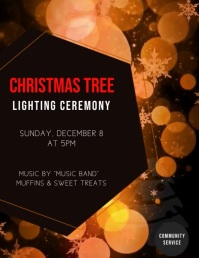 CHRISTMAS TREE LIGHTING CEREMONY Flyer (US Letter) template