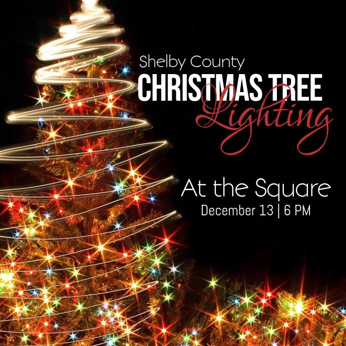 christmas tree lighting template postermywall