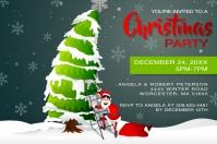 Christmas Tree Party Invitation Etiket template