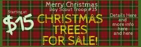 Christmas Tree Sale Banner 2x6 template