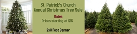 Christmas Tree Sale Banner 2x8 Foot Spanduk 2' × 8' template
