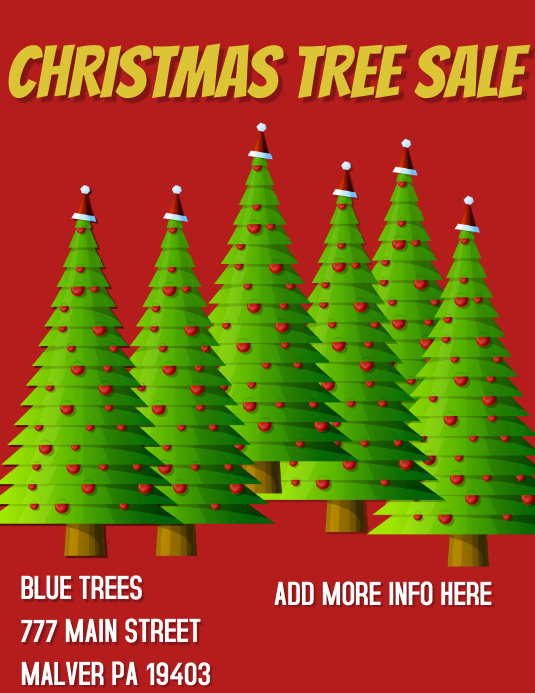 Christmas Trees For Sale.Christmas Tree Sale Template Postermywall