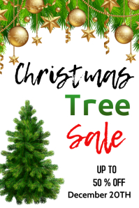 christmas tree sale Póster template