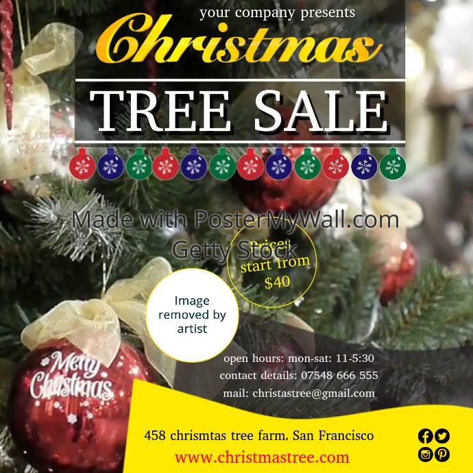 christmas tree sale video1 Template | PosterMyWall