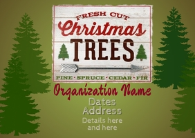 Christmas Trees for Sale Briefkaart template