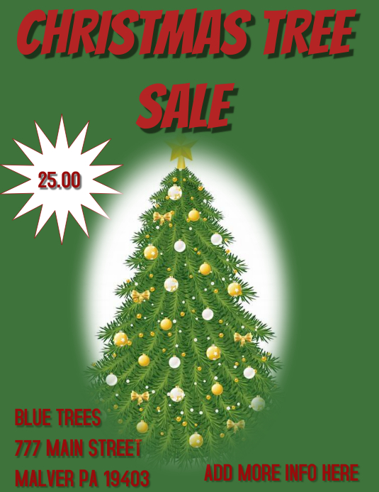 Christmas Trees For Sale.Christmas Trees For Sale Template Postermywall
