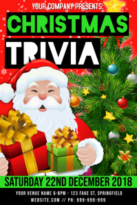 Christmas Trivia Poster template