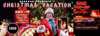 Christmas Vacation Bar Popup FB Cover Facebook Omslag Foto template