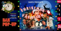 Christmas Vacation Bar Popup Instagram Poster Facebook Event Cover template