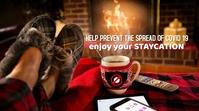 Christmas/vacations/stay home/coronavirus Twitter Post template