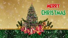 Christmas video 16 9 template