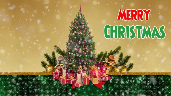 Christmas video 16 9 template Display digitale (16:9)