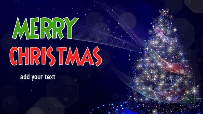 Christmas video display flyer
