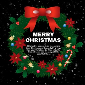 Christmas Video Greeting Card Wishes Snow Ad