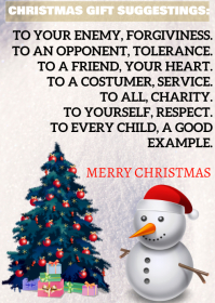 CHRISTMAS VIRTUES QUOTE TEMPLATE A6