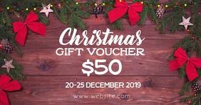 Christmas voucher Facebook Shared Image template