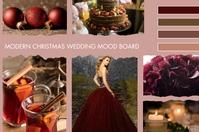 Christmas Wedding Board 4 Color Branding Плакат template