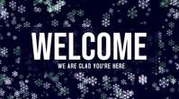 Christmas Welcome POSTER Pantalla Digital (16:9) template