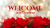 christmas welcome Poster Tampilan Digital (16:9) template
