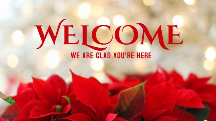 christmas welcome Poster Digitalt display (16:9) template