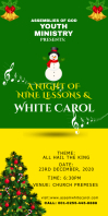 Christmas white carol Banner Roll Up 3' × 6' template