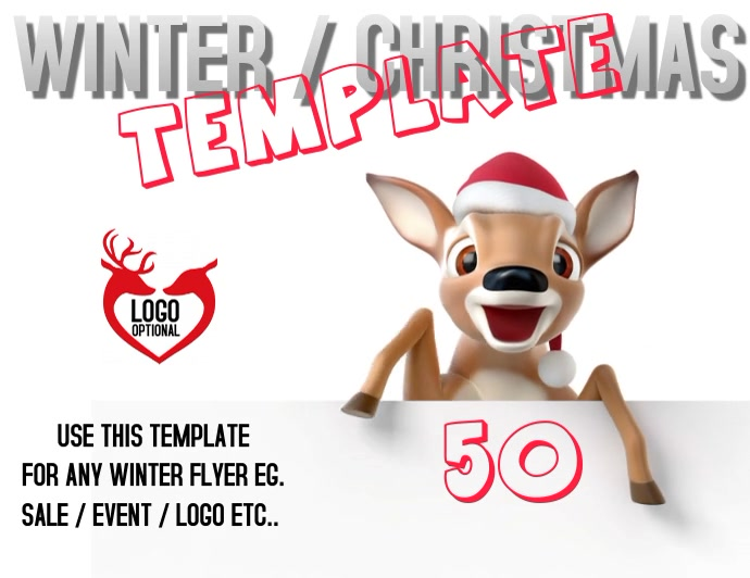 CHRISTMAS WINTER FLYER TEMPLATE VIDEO Løbeseddel (US Letter)