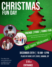 CHRISTMAS WINTER Fun Day Flyer Template