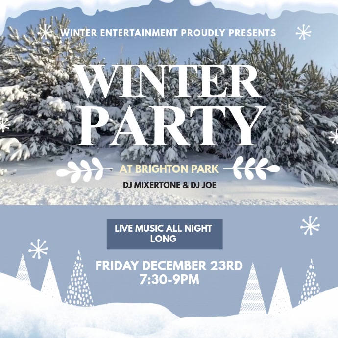 Christmas Winter Party Video Template