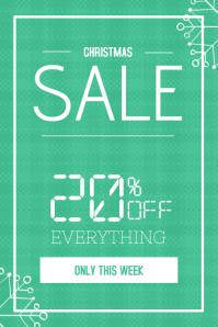 Christmas Winter Sale poster flyer template