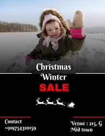 Christmas winter sale poster template