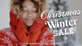 Christmas winter sale template