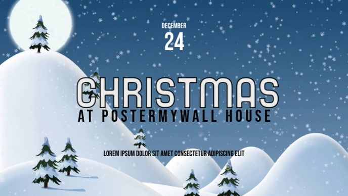 Christmas Winter Video Facebook Cover event