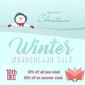 Christmas Winter Wonderland Sale