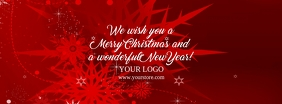 Christmas Wishes Company Business Cover Ad template