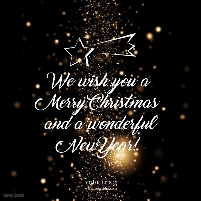 Christmas Wishes Company Business wishes Ad Quadrato (1:1) template