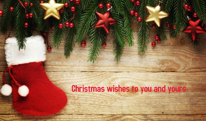 Christmas Wishes Etiqueta template