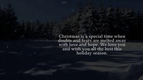 Christmas Wishes Video Greetings Tree Lights