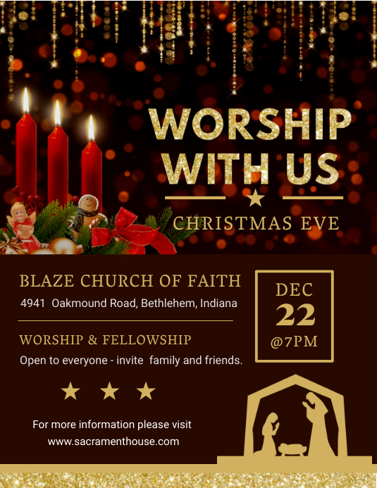Christmas Worship and Community Event Invitation